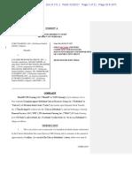 Cor Clearing LLC v Calissio Resources Doc 171-1 Filed 25 Jan 17