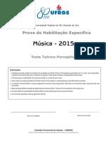 MÚSICA Teste Teórico Perceptivo CV 2015