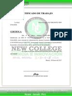 Certificado de Trabajo Nw
