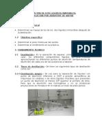 Destilacion de Dos Liquidos Inmisibles