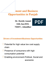 Investment and Business Opportunities in Punjab