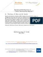 Productivity Surplus Distribution in Microfinance