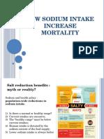 Low Sodium Intake Increases Mortality