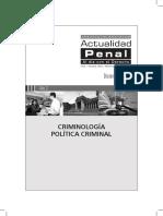 Criminología Politica Criminal