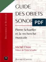 Guide Des Objets Sonores Pierre Schaeffer Et La Recherche Musicale
