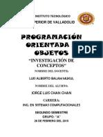 Programacion orientada a objetos (conceptos)