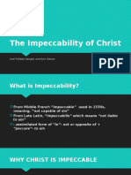 The Impeccability of Christ