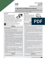 Manual de Operación e Instalación SP y CSP