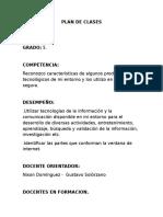 PLAN DE CLASES INFORMATICA 5°