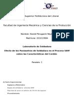Practica de Lab Soldadura - 9 Enero