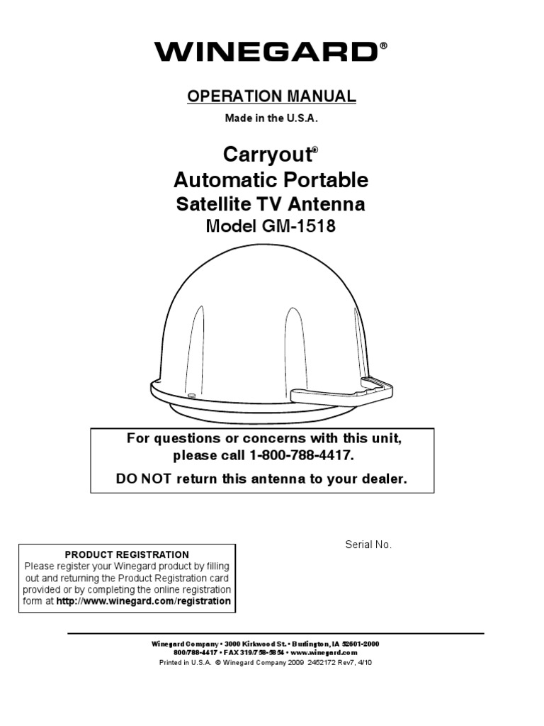 winegard carryout gm-1518 user manual | satellite television | electrical  connector