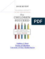 how children succeed book review