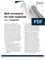 Data Belt Conveyors Bulk Materials
