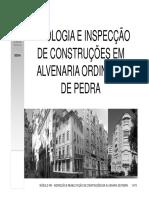 05 - Alvenaria de Pedra-patologia e Inspecção - PB