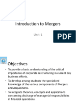 1.Introduction to Mergers