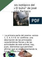 Análisis Isotópico Del Poema El Búho