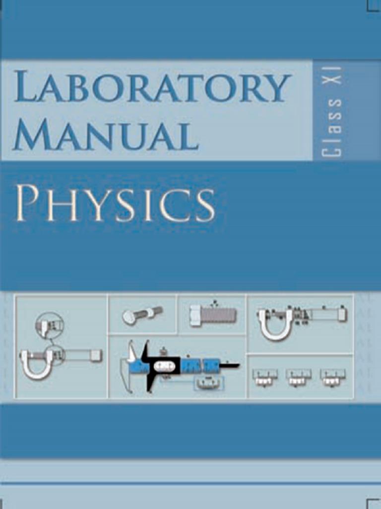 133212536 class xi physics lab manual pdf observational error rh scribd com Uqu Physics Lab Manual Physics Lab Manual Loyd PDF