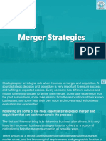 3. Merger Strategies and Motives