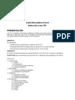 Carta Descriptiva Curso