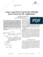 Single Stage Power Conversion With High Power Factor for DC Applications