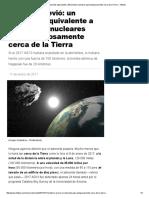 Nadie Lo Previó_ Un Asteroide Equivalente a 35 Bombas Nucleares Pasó Peligrosamente Cerca de La Tierra - Infobae