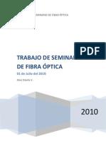 TRABAJO DE SEMINARIO DE FIBRA ÓPTICA