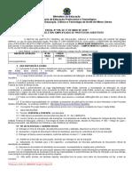 Edital Nº 198-2016- Professor Substituto Sociologia-história - Campus Montes Claros