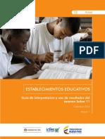 Guia de Interpretacion y Uso de Resultados Pruebas Saber 11 2016 - Establecimientos Educativos