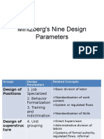 MintzBerg's Nine Design Parameters