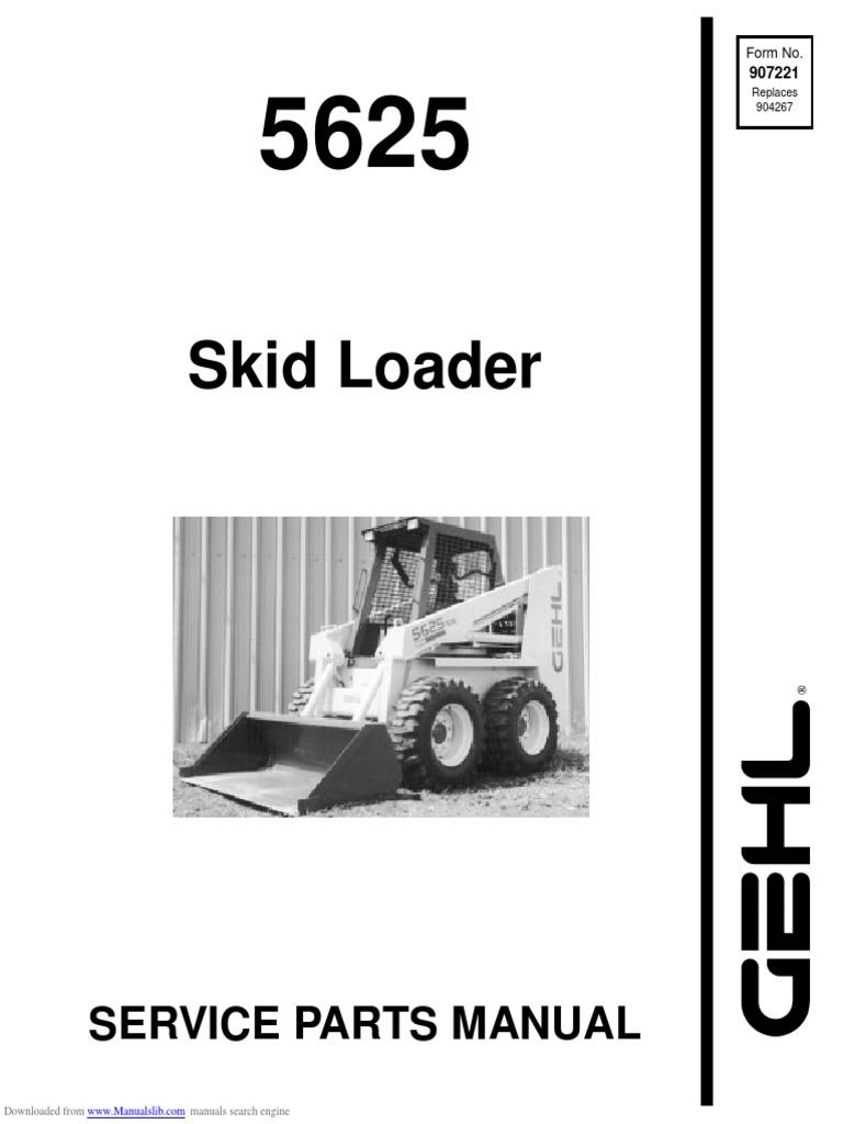 gehl 5625 Service Manual PDF   Screw   Elevator