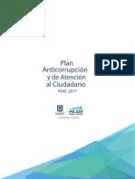 Plan Anticorrupción y Atención al Ciudadano 2017