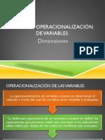 Operacionalizacion de Variables Dimensio
