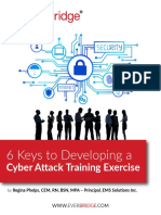 6 Keys to Developing a Cyber Attack Training Exercise