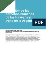 Situacion DDHH Travestis y Trans en Argentina