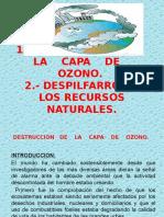 PPT capa de ozono y delpilfarro de recursos naturales