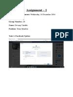 Assignment_01_14th December, 2016 Devang