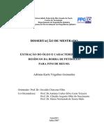 (REMEDIAR ) Extração Do Oleo e Carcaterização Dos Residuos Da Borra de Petroleo Para Fins de Reuso