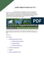 Guía Del Cazador Supervivencia en JcJ