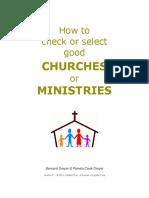 Bernard&Pamela Dryer How2CheckSelect GoodChurchMinistries