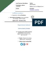 Curriculum Vitae José Díaz