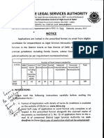 Notice for New Empanelment  2017,  DLSA East KKD