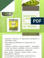 FABRICAREA  CONSERVELOR  STERILIZATE  DE  MAZARE.pptx