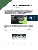 Wagyu Semen for F-1 Cattle Breeding & Production
