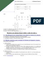 1 - Sistemas Lineares