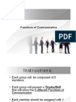 Group ACTIVITY Functions