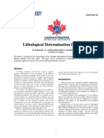 Lithological Determination From Logs