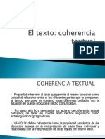 El Texto. Coherencia Textual