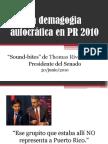 La demagogia autocrática en PR