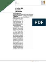 Nove università europee oggi a Urbino per preparare Eurocampus - Il Corriere Adriatico del 26 gennaio 2017