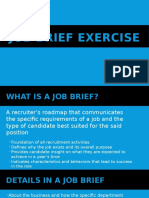 Job Brief Exercise